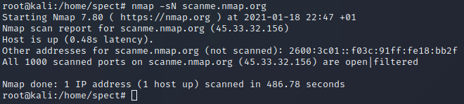 tcp null scan
