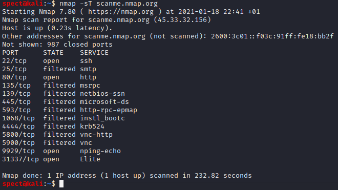 tcp connect scan